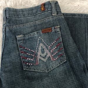 7 For All Mankind A Pocket Crystals Jeans
